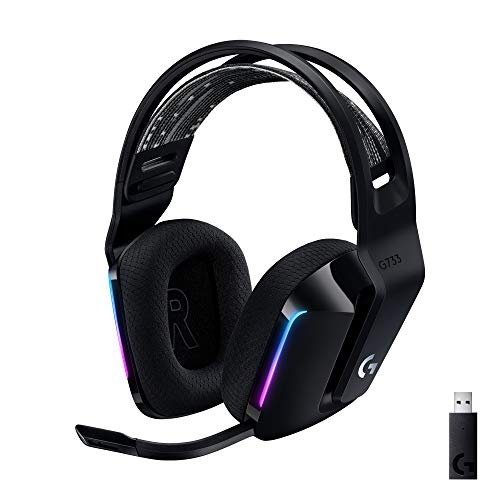 Logicool G ゲーミングヘッドセット LIGHTSPEEDワイヤレス G733 7.1ch BLUE VO! CE搭載マイク 278g 超軽量 L