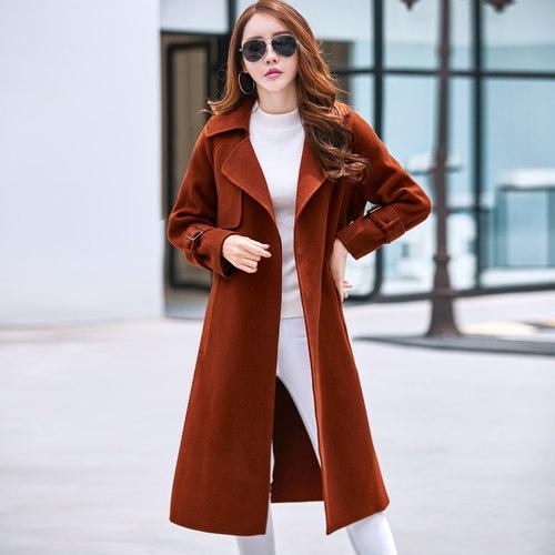 ファーコート スリム 防寒保暖 厚手 Vネック 無地 ベルト付属 ファッション イギリススタイル