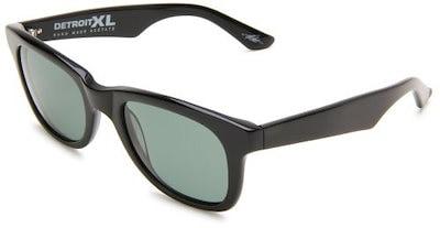 Electric Visual Detroit XL Polarized Square Sunglasses,Gloss Black Frame/Grey Polar Lens,One Size