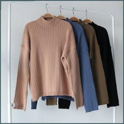 [メイルームモコ・ニット /ニット/セーター/ニット/韓国ファッション