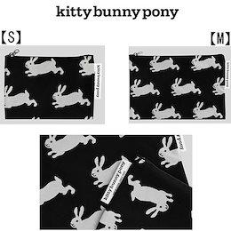 ★国内未入荷★✨【kitty bunny pony】🌈韓国ブランド キティバニーポニー Happy Bunny Pouch ポーチ【S】【M】 『送料無料』 ♪😊ポーチ😊🎀韓国直送