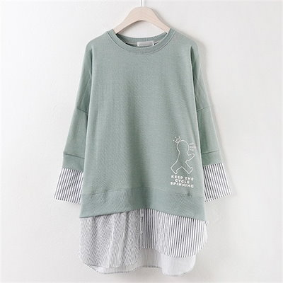 子供ウーマン集めシャツベセクティSM1703ビックサイズ /ラウンドTシャツ/ Tシャツ/韓国ファッション