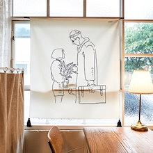 [韓国直送] メモリアル図面ファブリックポスター/目隠しカーテン