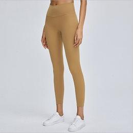 【Moving Peach】レディースファッションハイウェストレギンスフィットネスウェア 韓国ファッション加圧吸汗速乾 お腹押さえパンツ高弾ロングパンツ