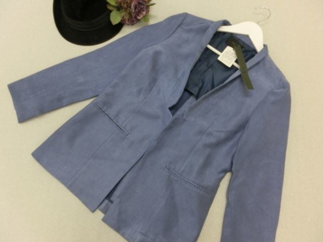 YEVS/イーブス 長袖ジャケット M ブルー 不備あり未使用商品【中古】