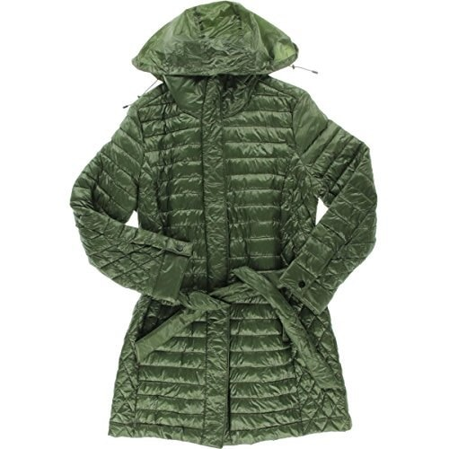 Rainforest Womens Belted Light Weight Thermoluxe Coat, Olive, Large