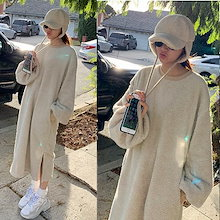 ★500円クーポン適用後2890円★韓国ファッション 『Naning9』ボアフロング·ワンピース/ おしゃれなシルエットのファッションコーデー提案!ハイクォリティー/韓国ファッション