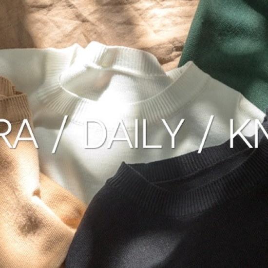 ホワイト・フォックス小売ロールアップパクシフィットデイリー・ニット ニット/セーター/ニット/韓国ファッション