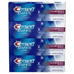 Crest 3D White Luxe Glamorous White Toothpaste, 3.5 oz 4-PACK