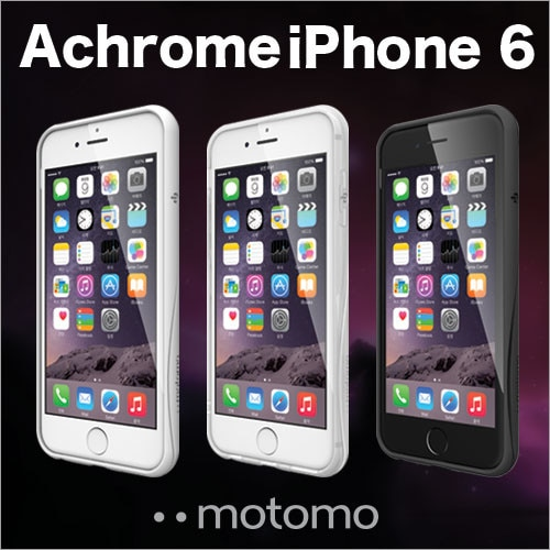 iPhone6s/6ケース クリアケース ハード [motomo 正規品] INO ACHROME Case for iPhone6s 6 アップルマーク 透明ケース ハードケース