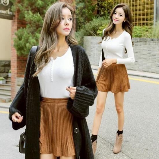 プラン第二行き来するようにプラン第二チョチョボタン・ニット ニット/セーター/ニット/韓国ファッション