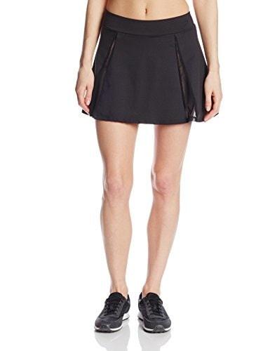 Danskin Womens Mesh Gore Skirt, Rich Black, Medium
