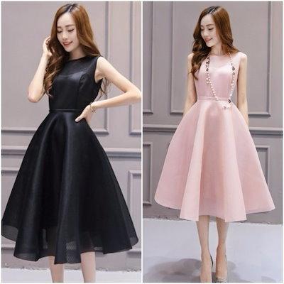 ボリューミーなフレアスカートが華やかなワンピース 20代 30代 40代 新作