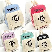 韓流グッズ 応援グッズ TWICE トゥワイス バッグ 大容量  リュックサック バックパック デイパック 通勤 通学 おしゃれ かばん 切り替え リュックPU 鞄