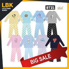 最後の割引★BT21ティージャマ【E-LAND HUNT x BT21】 100%正品 BT21 公式 ティーシャツパジャマ 8種