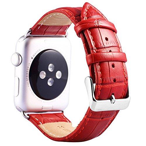 (ミーモール)Miimall アップル ウォッチ バンド 38mm 40mm レザー アップル ウォッチ バンド金属 クラスプ 付き 簡単 交換 ストラップapple watch leather st