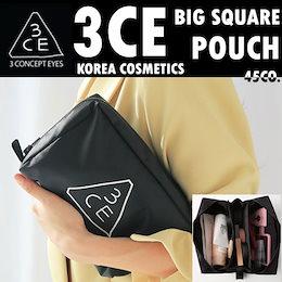 [韓国コスメ/韓国化粧品/韓国ファッション/ STYLENANDA]3CE BIG SQUARE POUCH/3CE POUCHSMALL/ポーチ化粧品のバッグバッグ