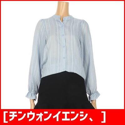[チンウォンイエンシ、]小売フリルくれるかブラウス(ENBA83911Z-CA) /プリントシャツ/ブラウス/シャツ/韓国ファッション/