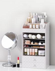 化粧品 小物  高品質  収納ボックス オーガナイザー 引き出し付き 大容量