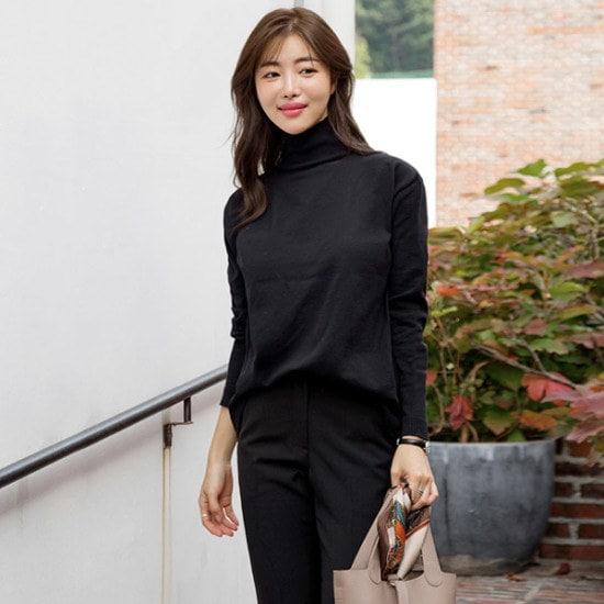 るみさんソリッドバンポルラ・ニット ニット/セーター/ニット/韓国ファッション