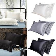 ✨2枚セットでお得♪シルク100%枕カバー 2枚セット✨ 高級超長綿ホテル品質 髪・肌に優しい100%シルク  シルクの美しい ピローケース 54×84CM