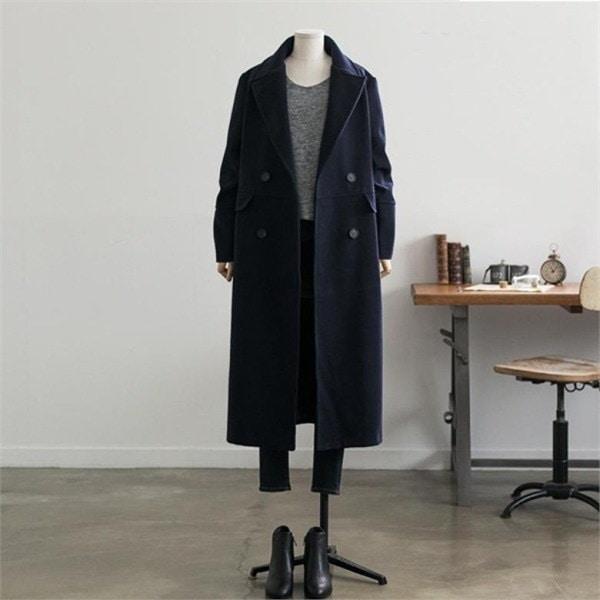 ビックサイズハローシスターロエドゥロングコート 女性のコート/ 韓国ファッション/ジャケット/秋冬/レディース/ハーフ/ロング/