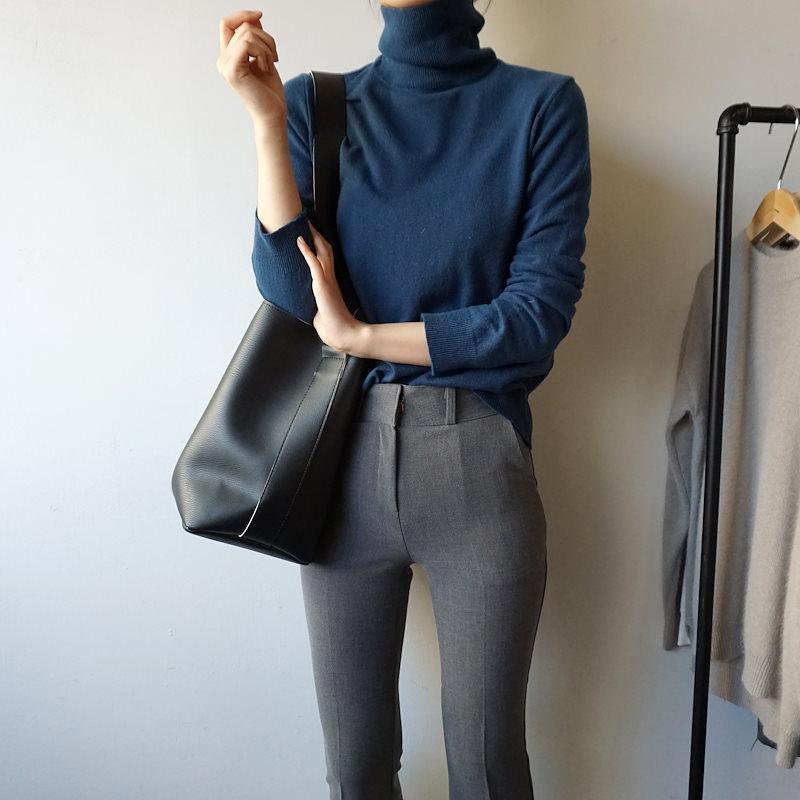 ハイポーラニット3col korea fashion style