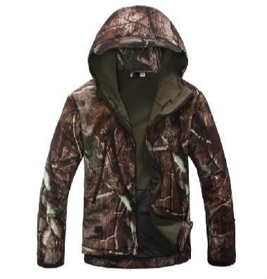 TADギアタクティカルソフトシェル迷彩アウトドアジャケットセット男性陸軍スポーツ防水狩猟服はミリタリージャケットを設定します