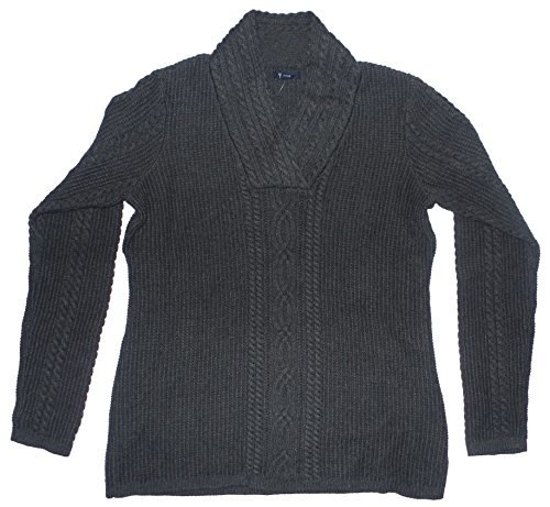 Nautica Womens Cable Knit Pullover Sweater X-large Gray