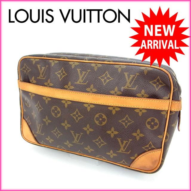 ルイヴィトン Louis Vuitton セカンドバッグ /メンズ可 /コンピエーニュ モノグラム M51845 PVC×レザー (あす楽対応)(激安・即納)【中古】 Y424 .