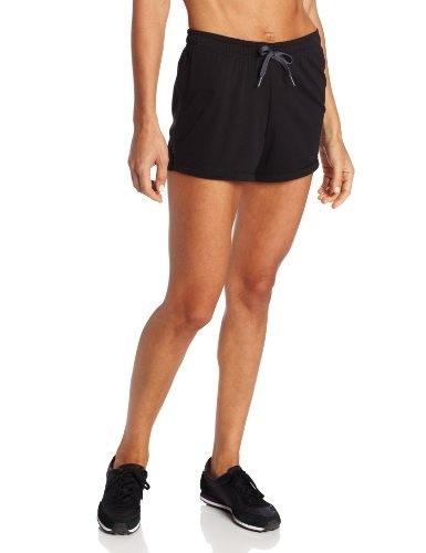 Champion Womens Powertrain Short, Black/Medium Gray, Large