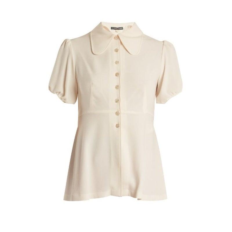 アレクサチャン レディース トップス ブラウス・シャツ【Tie-waist crepe blouse】Ivory