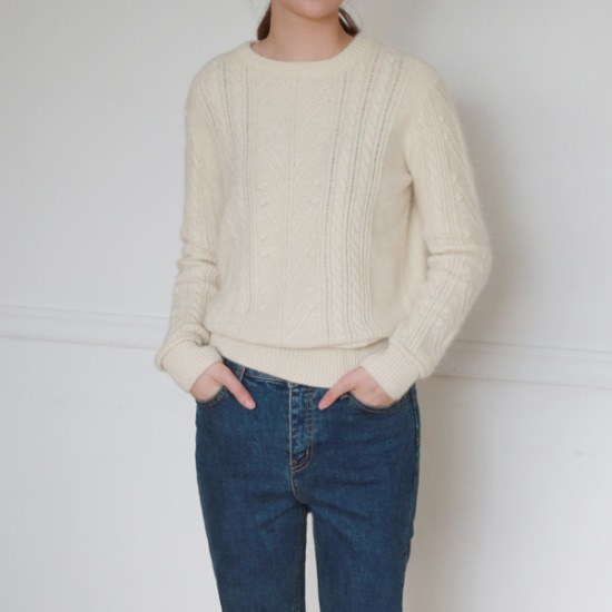 デイリー・マンデーAngora point knitアンゴラポイントニット ニット/セーター/ニット/韓国ファッション