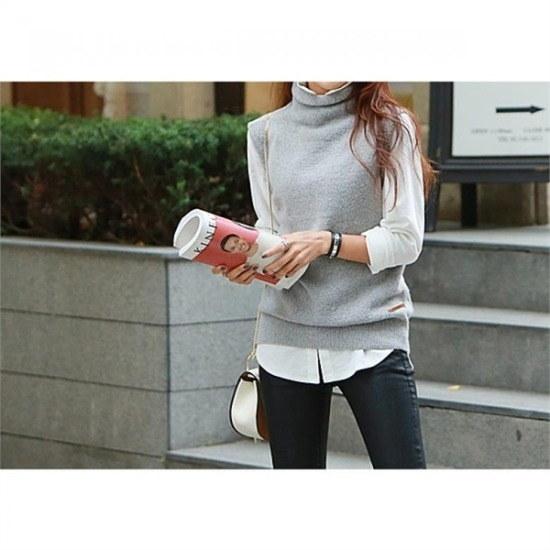 ペッパー行き来するようにペッパー担い、ツーラベルポイントベスト102722 ベセチュウ / ニット・ベスト/ 韓国ファッション