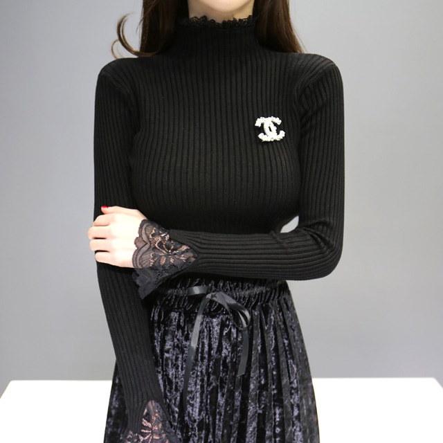 ロエルレース編みkorean fashion style
