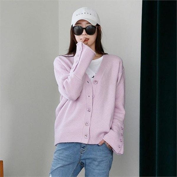 プロミン・ニットカディゴンnew 女性ニット/カーディガン/韓国ファッション