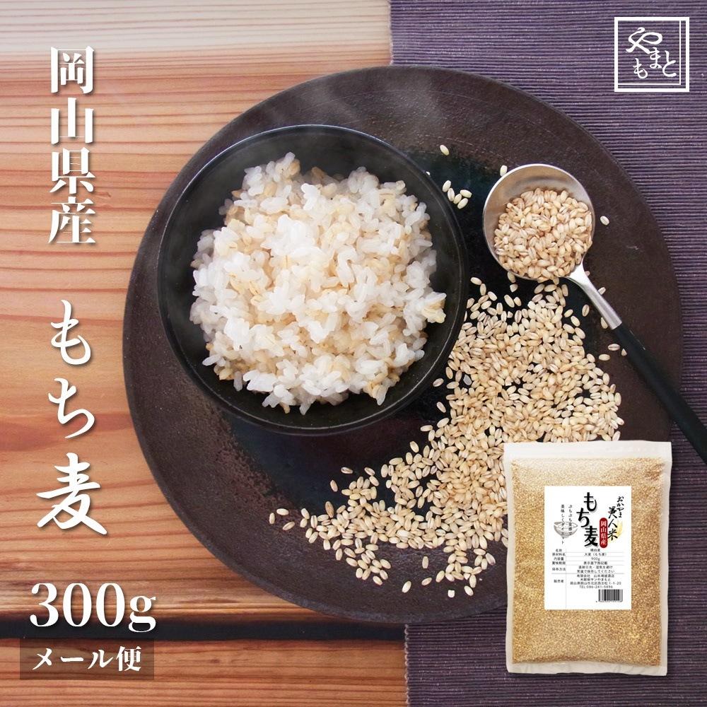 令和2年 新麦 岡山県産 もち麦 安い お試し おすすめ ポイント消化 ぽっきり キラリモチ麦300g 国産 送料無料