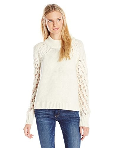 French Connection Womens Kora Knits Sweater, Winter White, Medium