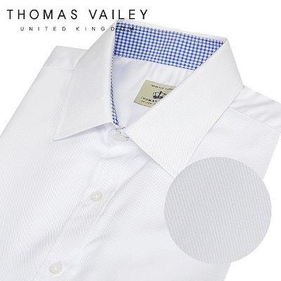 [AK公式ストア]【THOMAS VAILEY] [トーマス・ベイリー]さらさらレーヨンスリムフィット半袖シャツホワイト156