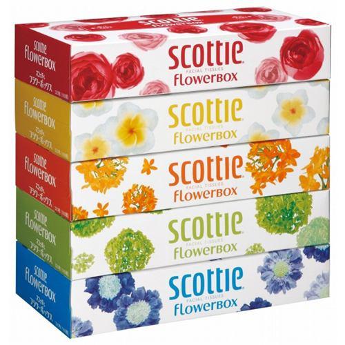 スコッティ ティシューフラワーボックス 1パック(5箱入)