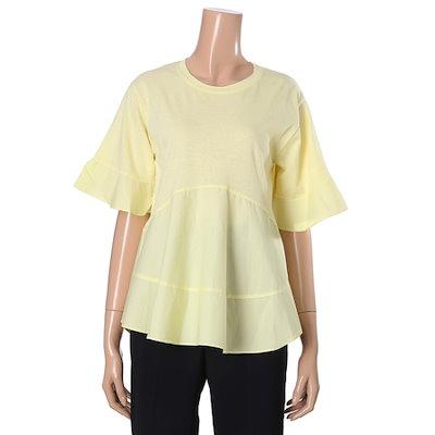 オチョクエイライン面ラウンド面ティー71512672 ティーシャツ / ソリッド/無知ティーシャツ / 韓国ファッション