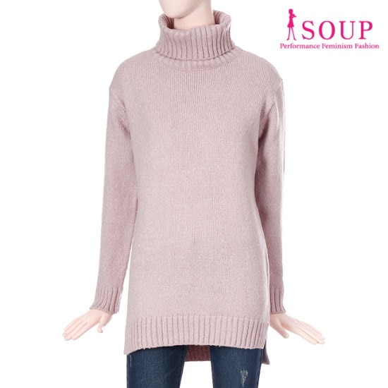 森SOUPタートルネックロングプルオーバーSTBLK31 / ニット/セーター/タートルネック/ポーラーニット/韓国ファッション