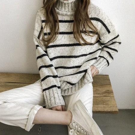 ラウドダンガラタートルネックニットKorean fashion style