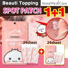 1+1★HOMEMEDICARE★スポットパッチ(24枚)/トラブル解消パッチ Spot Patch(24Sheet)/Trouble erasing patch[Beauti Toppi