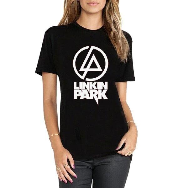 ファッション原宿カジュアルTシャツWomenパンクロックLINKIN PARKコットンシャツCasual Hipster For Famale