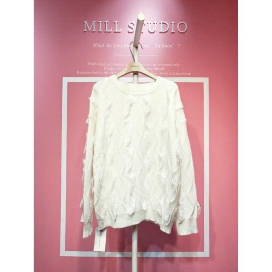 スタジオホワイト、レースやフリルニートMCA30S162 ニット/セーター/韓国ファッション