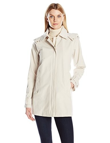 Vince Camuto Womens Water Repellent Rain Jacket, Bare, Small