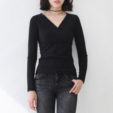 モード段ボールVネックTシャツすっきり自然なボリューム感のある起毛素材の段ボールTシャツ
