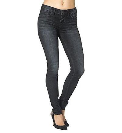 Silver Jeans Juniors Aiko High Rise Legging Jean, Dark Wash, 34x31