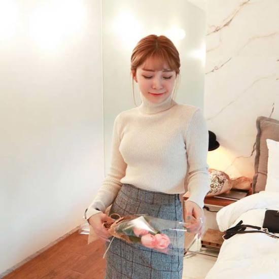 素である懐かしい時間タートルネックのティー ニット/セーター/タートルネック/ポーラーニット/韓国ファッション
